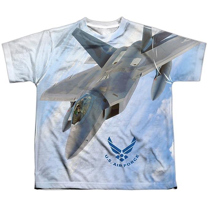 Air Force Volar por sublimación camiseta de la juventud para niños Grande Blanco