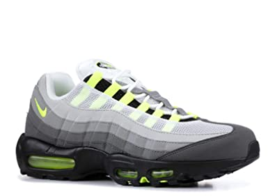 Nike Men's Air Max 95 OG, BLACKVOLT MEDIUM ASH DARK PEWTER, 10.5 M US