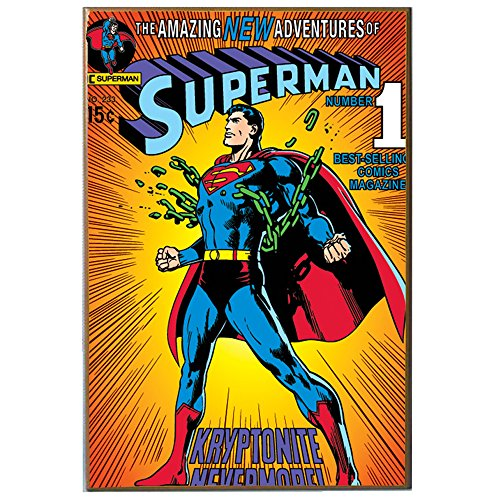 Silver Buffalo SP1336 DC Comics Silver Buffalo Superman Breaking Chains V Wood Wall Art, 13 x 19 inches