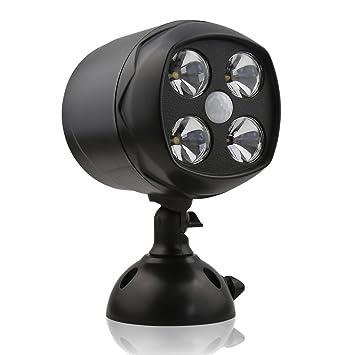 Aityvert Foco ultrabrillante con sensor de movimiento PIR, 4 LED, 600lú