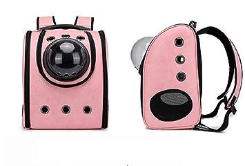SHKY Mascota Espacio Cápsula Mascota Perro Mochila Transpirable Mascota Viaje Mochila Espacio Portátil Mascota Mochila Gato Y Perro,Pink: Amazon.es: ...