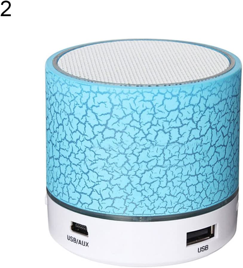 Wireless Bluetooth Speaker LED Mini Portable Outdoor USB Music Sound Play Red