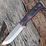 TOPS Knives B.O.B. The Brothers of Bushcraft Fieldcraft B.O.B. Hunter - 154 CM Steel (Red)