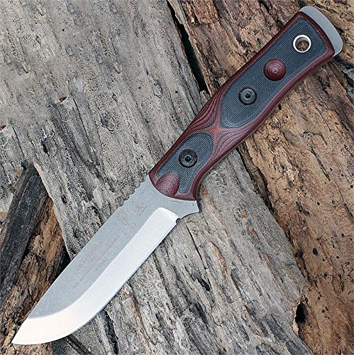 TOPS Knives B.O.B. The Brothers of Bushcraft Fieldcraft B.O.B. Hunter - 154 CM Steel (Red) by TOPS Knives
