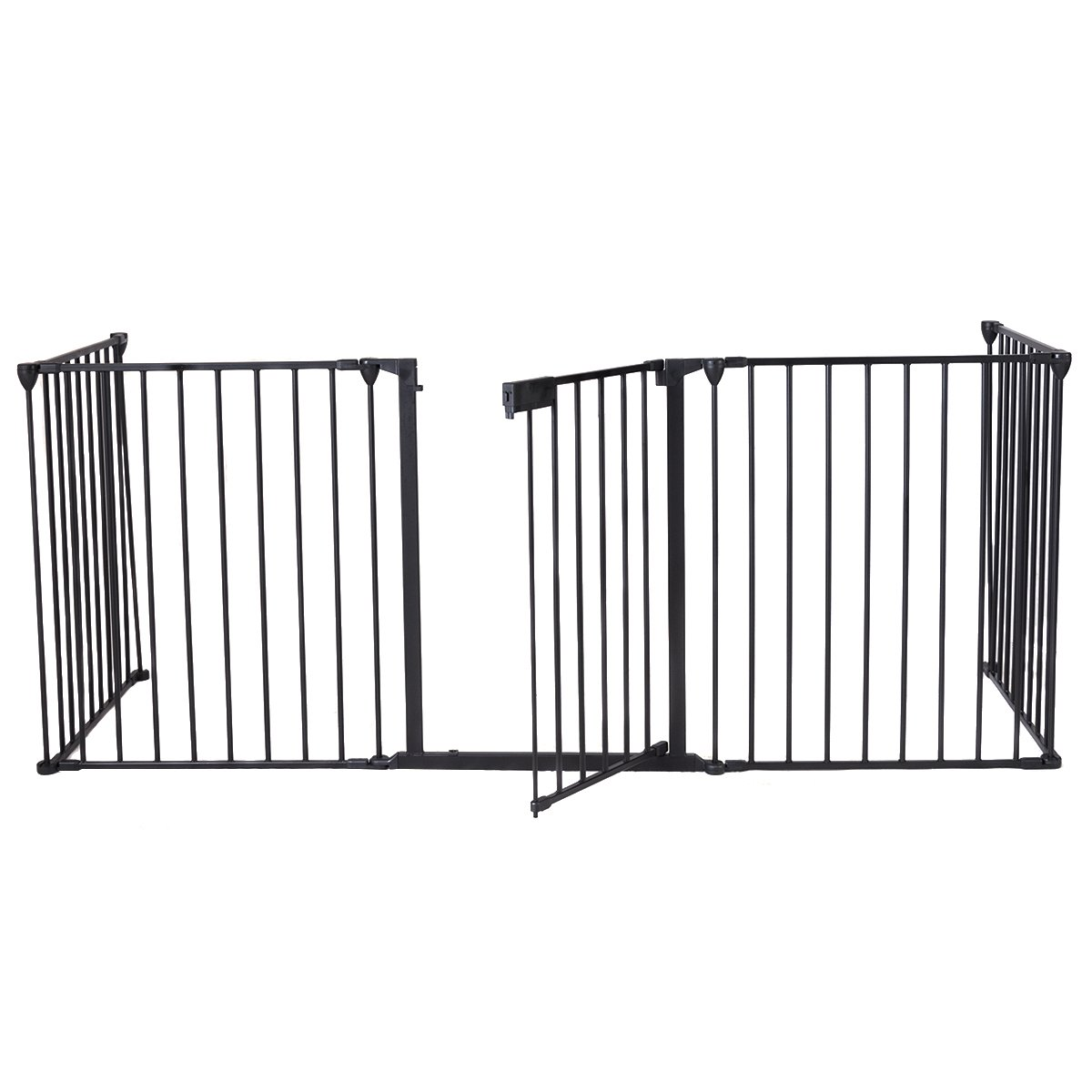 Barri/ère de S/écurit/é Barri/ère Grill de Protection Cl/ôture Enfant pour Porte 300 x 75 cm 5 Pi/èces