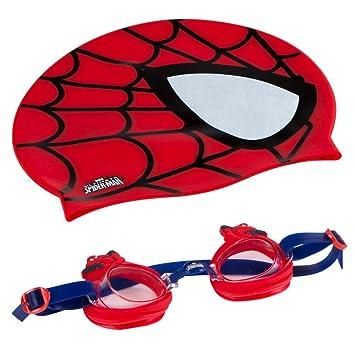 61fba425a Eolo - SPIDERMAN Gorro & gafas natación infantil (ColorBaby 53451 ...