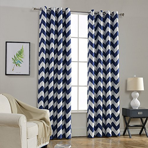 Melodieux Chevron Darkening Blackout Curtains