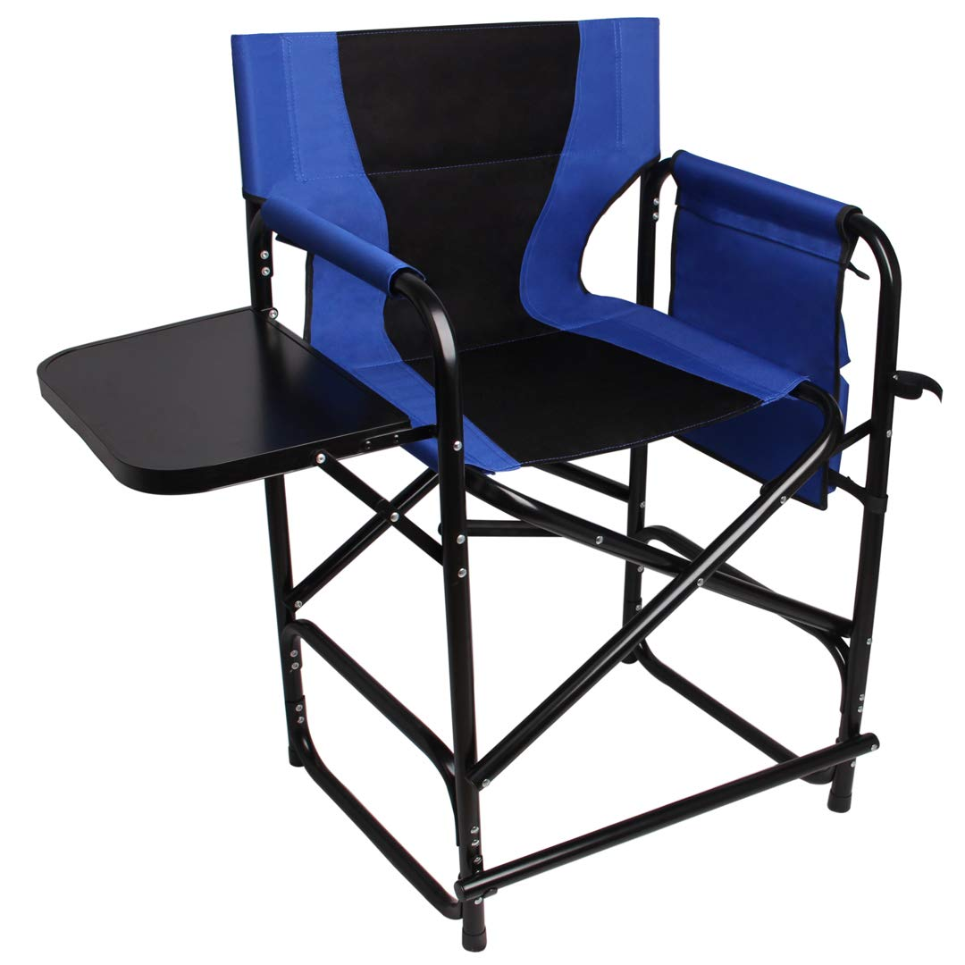Directors Chair Folding Camping Chairs-24 Seat Height Makeup Artist Collapsible Chair Director Chair by SILANON