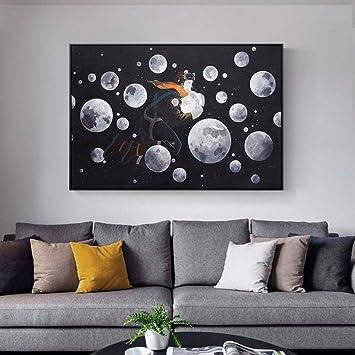 AJKCBAQ Universe Planet World Poster Und Drucke Wandkunst ...