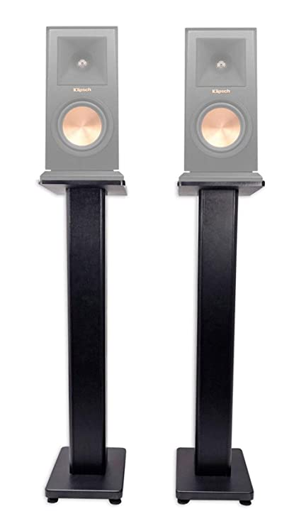 Pair 36quot Bookshelf Speaker Stands Klipsch RP 150M Speakers