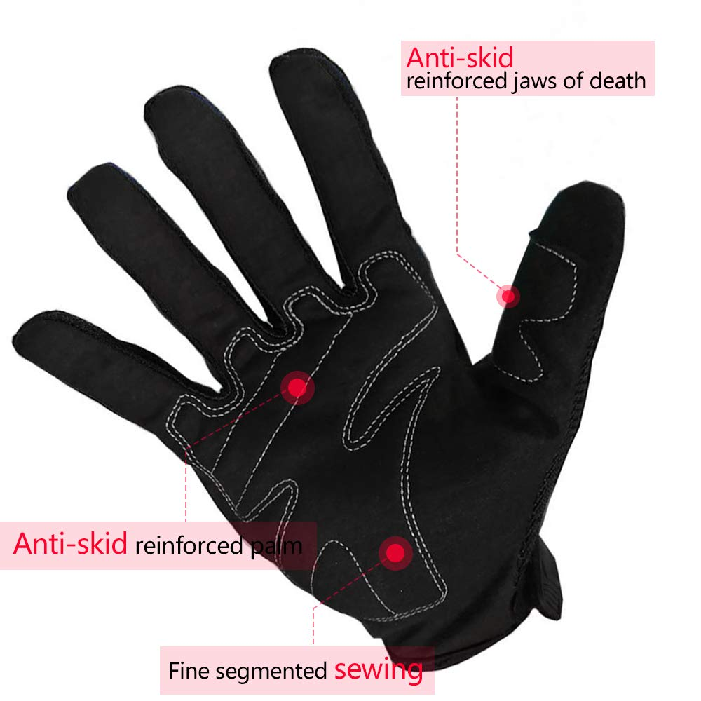 SY-MC17B-RE-XL Red,XL SCOYCO Screen Sensitive Cowhide Leather Windproof Shockproof Double-Layered withThermal Lining Warm Winter Racing Cycling Motorcycle Glove