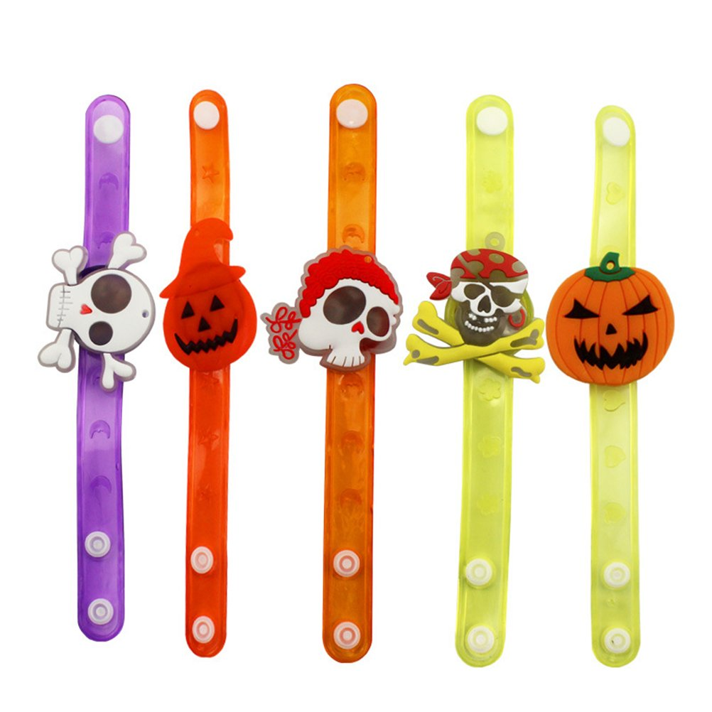 Doitsa 3 Pcs Halloween Accessories Funny Illuminating Bracelet for Kids Party with Electricity Random Style