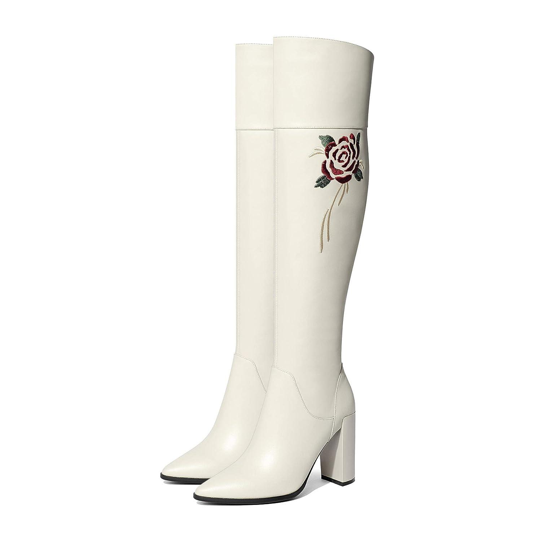 Frauen Spitz hohe Overknee Lange Stiefel