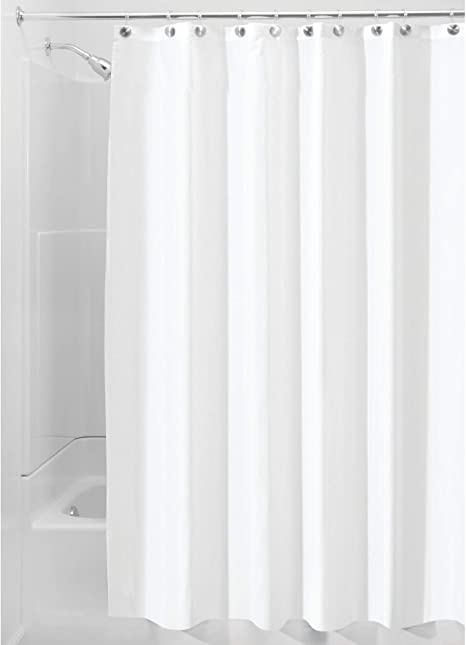 White Shower Curtains,Mould Proof and Mildew Resistant Extra Long Shower Curtain