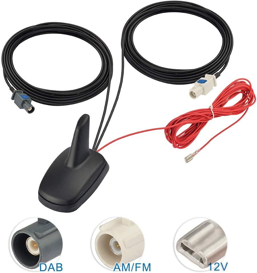 Coche Radio//stereo Iso Din Macho aérea Ariel Arial Antena Adaptador pc5-27