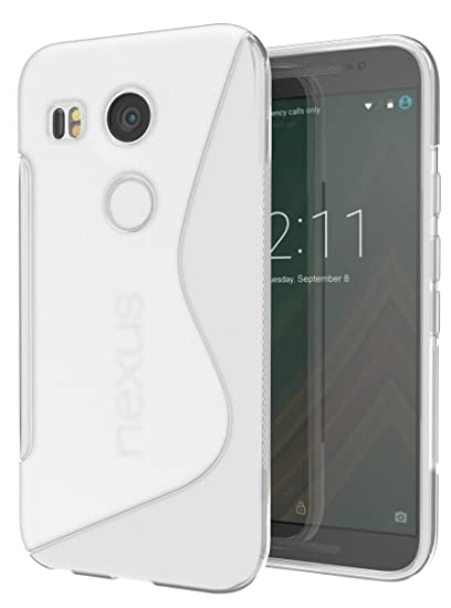 reputable site 62c25 47fdf Nexus 5X Case, Cimo [Wave] Premium Slim TPU Flexible Soft Case for LG  Google Nexus 5X (2015) - Clear