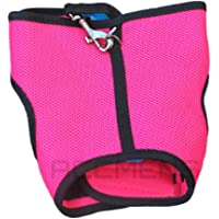 Small Animal Harness Guinea Pig Forret Hamster Rabbit Squirrel Vest Clothes Lead (Small, Hot Pink)