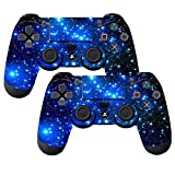 Cheap SubClap 2 Packs PS4 Controller Skin, Vinyl Decal Sticker Cover for Sony PlayStation 4 DualShock 4 Wireless Controller (Shinny Blue)