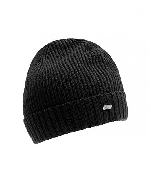 BOSS Hugo Sombrero Negro, reforzado de color negro lana