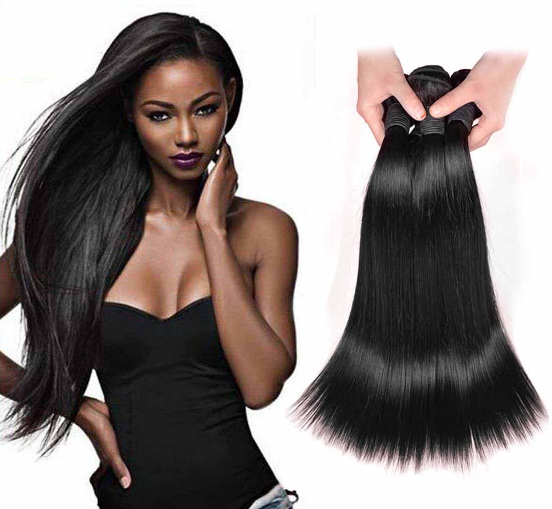 Amazon Angel Hair 3 Bundles Virgin Peruvian Straight Hair Sew