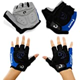 GEARONIC TM New Fashion Cycling Bike Bicycle Motorcycle Shockproof Foam Padded Outdoor Sports Half Finger Short Gloves