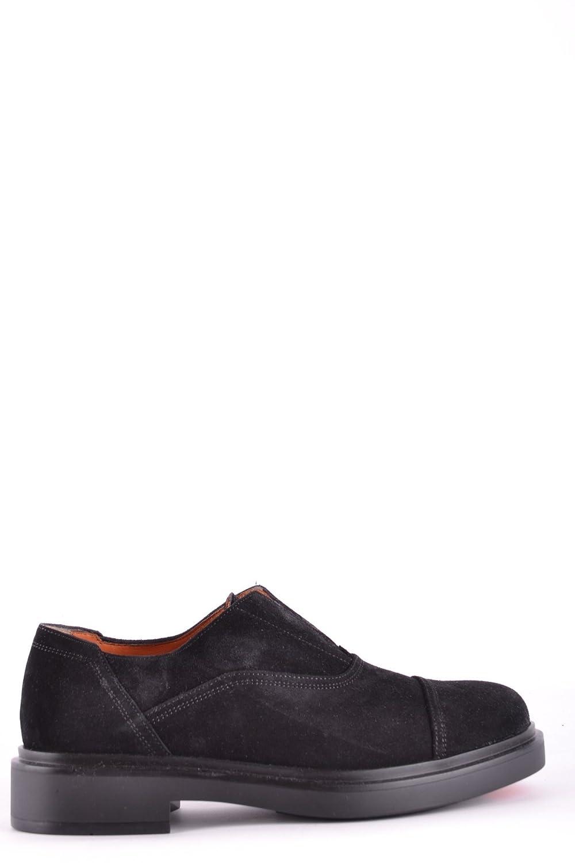 Men's MCBI267036O Black Suede Loafers