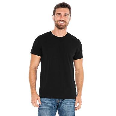148dfd43750 Men's Designer T-Shirt Lightweight Semi Fit Short Sleeve Crew Neck Organic  Cotton Pre-Shrunk Embroidered - Made in USA