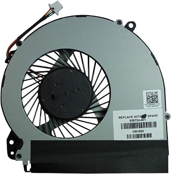 Power4Laptops Ventilador para Ordenadores portátiles Compatible con HP Home 17-y010ns: Amazon.es: Electrónica