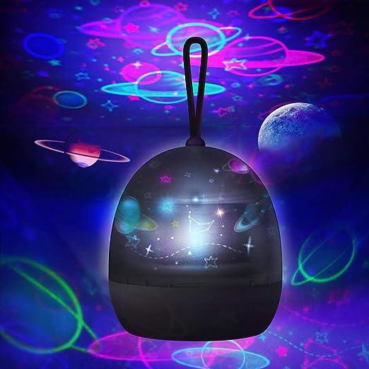 Proyector de estrellas luz de noche para niños – 360 grados ...