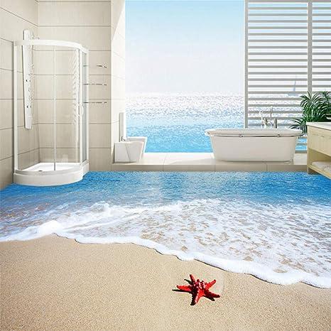 Moderno Simple Sea Beach Starfish 3D Piso Azulejos Wallpaper ...