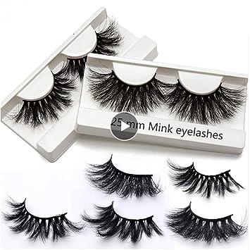 89c0ad18214 Amazon.com : Full Volume 25mm Lashes Mink Eyelashes Cruelty-free Full  Volume 3D Mink Strip individual Eyelashes Big Dramatic Volumn False  Eyelashes Extra ...