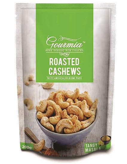 Gourmia Roasted Cashews, Tangy Masala, 200g