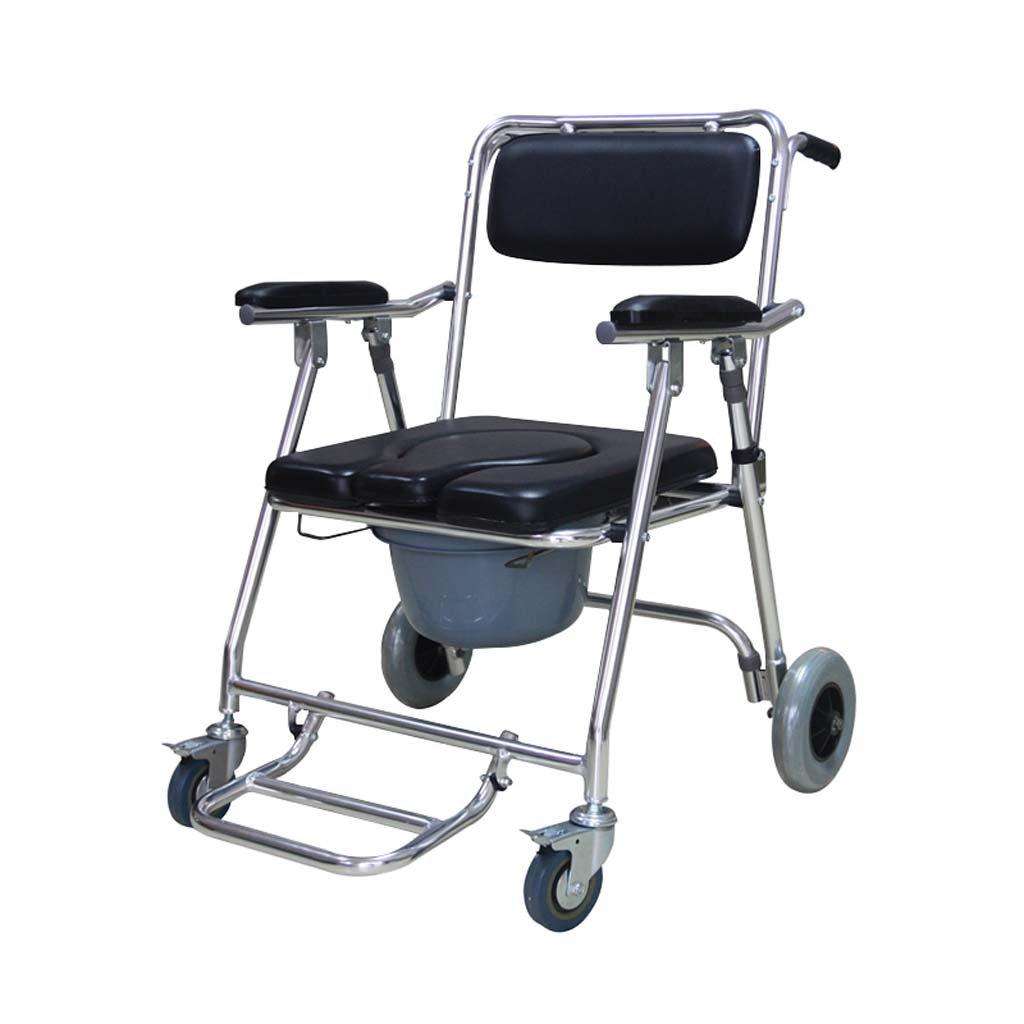 トイレの椅子の椅子障害のある高齢者の妊婦の折り畳み式の60 * 63 * 86cmのためのアルミニウム合金 B07KF6HSP4