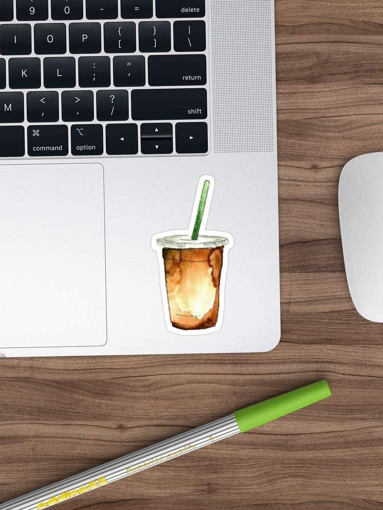 """Iced Coffee Sticker Window Vinyl Sticker for Cars, Trucks, Windows, Walls, Laptops (Longest Side 3""""-4"""")"""