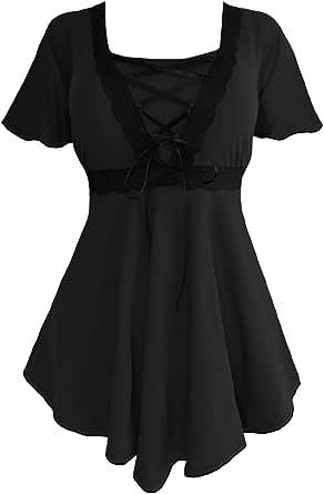 Dare to Wear Victorian Gothic Boho Women's Plus Size Angel Corset Top