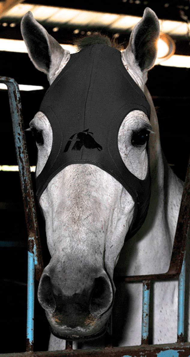 Fenwick Liquid Titanium Therapeutic Horse Mask - Medium - Black by Fenwick