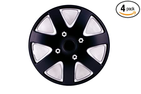 Amazon.com: SUMEX 50589BS Universal Fit Silverstone Wheel Trims 13-inch - Black/Silver Set of 4: Automotive