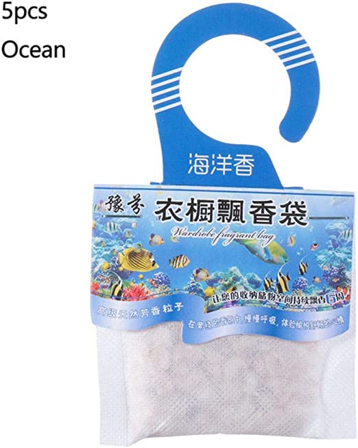 Piner 5 Packs Fragancias Colgante Especias Bolsa Armario Natural Bolsas de Papel desodorizante Aromaterapia Bolsa Gabinete Ambientadores, 5 Piezas océano: Amazon.es: Hogar
