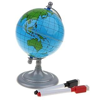 Sharplace Globo Mappa Mondo con 2 Penne Giocattolo Sviluppo Bambini Regalo Plastica ABS
