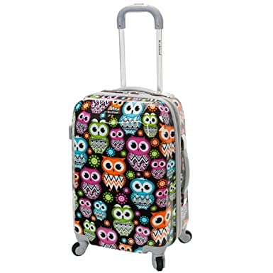 Amazon.com | Girls Cute Owl Flower Themed Carry On Suitcase Kids ...