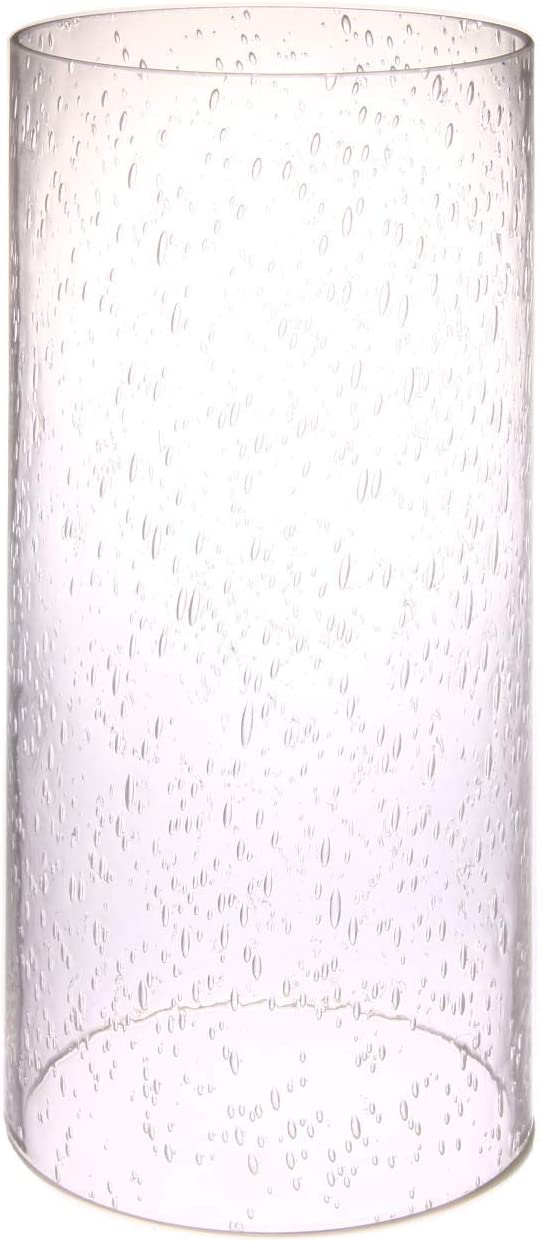TLLAMP Bubble Glass Large Size Open Straight Cylinder Lamp Shade