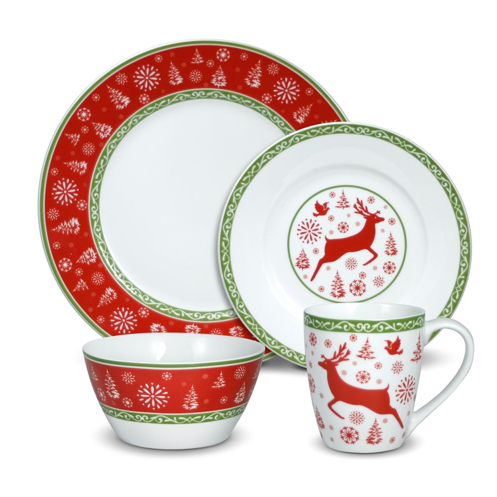 Amazon.com | Pfaltzgraff Dancing Snowflakes 48 Piece Dinnerware Set Service for 8 Dinnerware Sets  sc 1 st  Amazon.com & Pfaltzgraff Dancing Snowflakes 48 Piece Dinnerware Set Service for 8