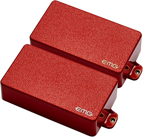 EMG 81/85 Active Electric Guitar Humbucker Pickup Set Red (Guitar Emg Pickups)