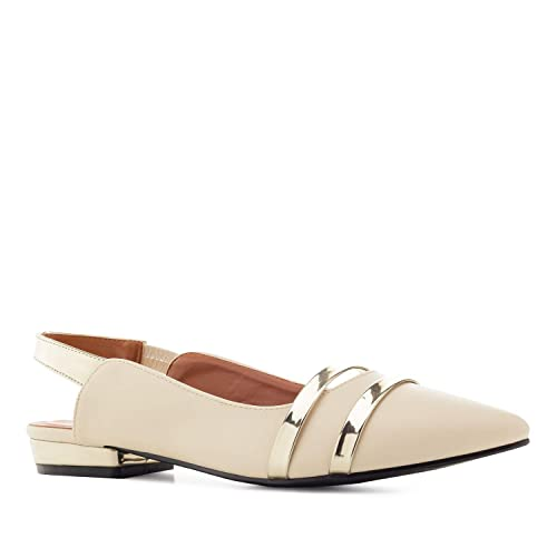 09cda23383 Andres Machado AM5365 Slingback Ballerinas in Faux Leather - Big ...