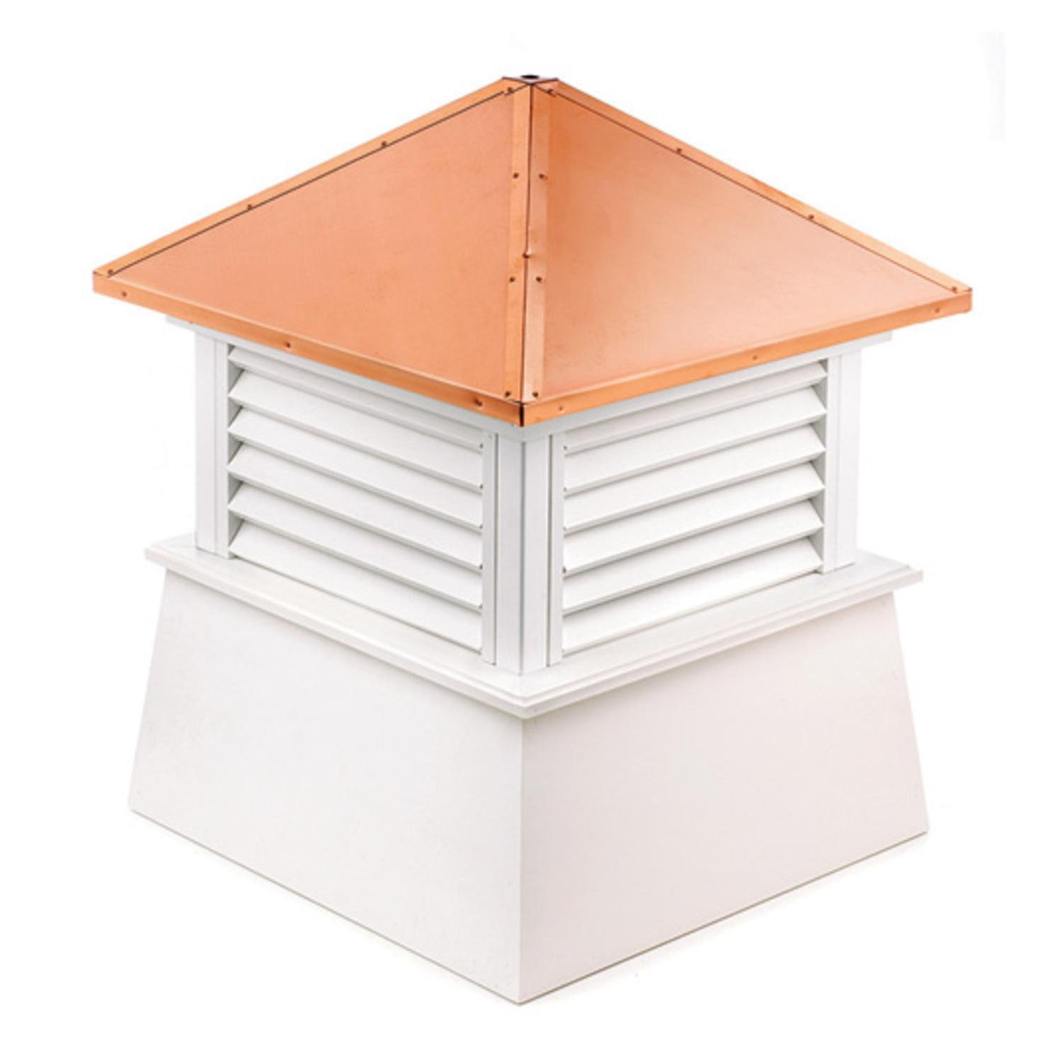 32'' Handcrafted ''Manchester'' Copper Roof Vinyl Cupola by CC Home Furnishings