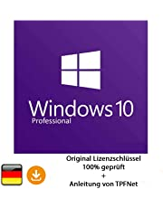 Microsoft® Windows 10 Pro 32 bit & 64 bit Vollversion Original Lizenzschlüssel per Post und E-Mail + Anleitung von TPFNet - Versand maximal 60Min