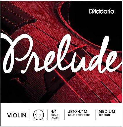 Juego de cuerdas para violín Prelude de DAddario J810 4/4M, escala 4/4, tensión media.: Amazon.es: Instrumentos musicales
