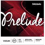 D'Addario Prelude Violin String Set, 4/4 Scale Medium Tension – Solid Steel Core, Warm Tone, Economical and Durable…