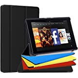 Fire HD 8 Case, Feelgo Ultra Light Slim Fit Tablet Screen Protective Stand Cover Case w/ Auto Wake/Sleep for Amazon Fire HD 8 Tablet(7th Generation,2017 Release) Black