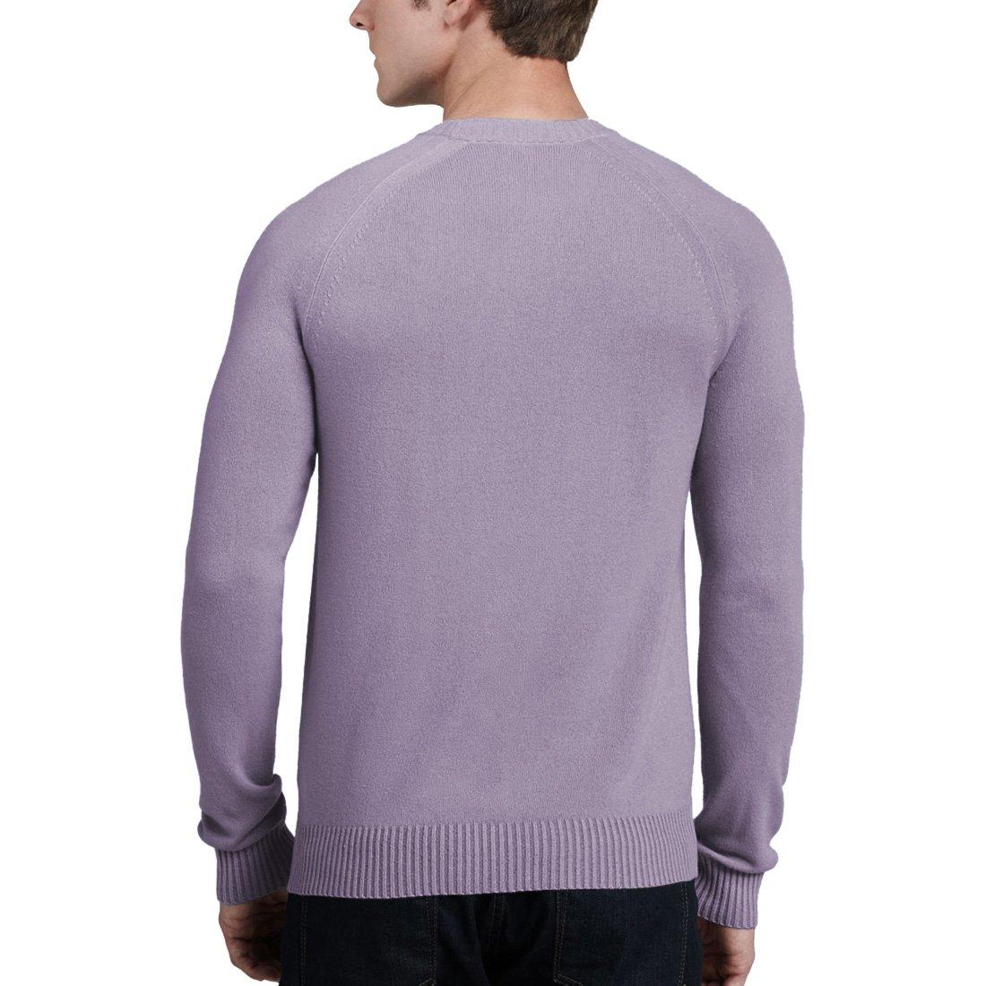 Parisbonbon Mens 100/% Cashmere Raglan Sleeve Sweater